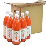 無農薬にんじんとりんごレモンの常温ビンジュース 1L×6本(コールドプレス製法)