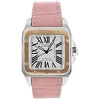 [カルティエ] 腕時計 CARTIER W20107X7 サントス100 MM SS/PG ピンクレザー 自動巻き [中古品] [並行輸入品]