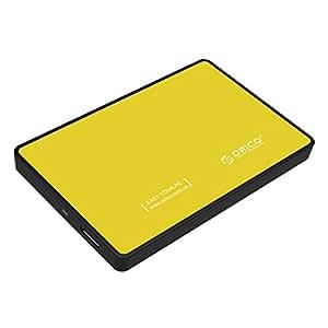 ORICO 2.5インチ SATA対応 USB3.0対応 HDD/SSD外付けドライブケース リムーバブルケース ツール不要簡単着脱 イエロー 2588US3