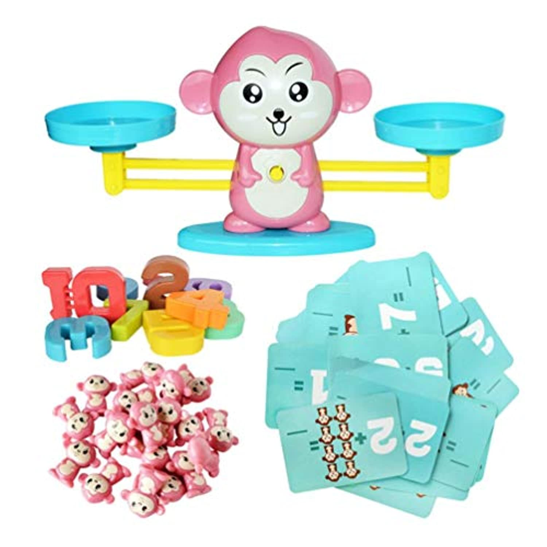 Sannysis スクイッシー おもちゃ 猿のバランスゲーム スケール 早期教育 重量 子供 キッズ 知育玩具