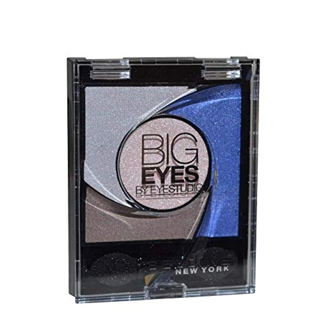 頬共産主義面倒Maybelline New York Lidschatten Eyestudio Big Eyes Palette Blue 04 / Eyeshadow Set in Blau-Tönen mit Wet-Technologie...