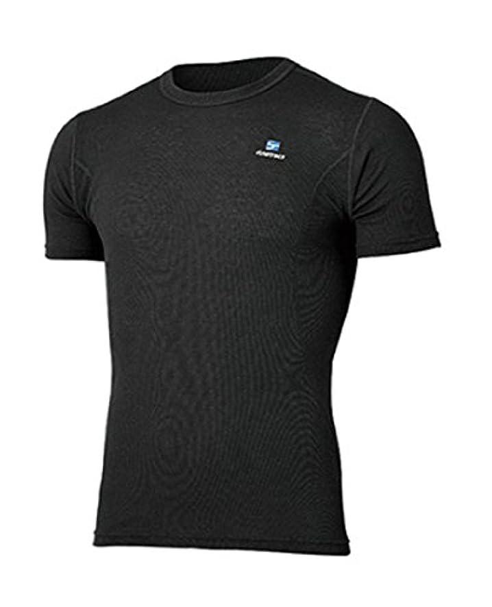 咳スロベニア完璧なファイントラック finetrack Men's メリノスピンライト Tシャツ FUM0713 (BK)