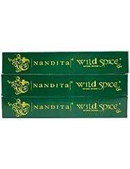 Nandita Wild Spice プレミアムナチュラルマサラ香スティック 3本パック (各15グラム)
