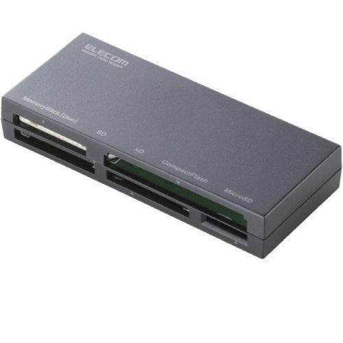 【2010年モデル】ELECOM カードリーダライタ USB2.0対応 ケーブル収納 SD+MS+CF+XD対応 ブラック MR-K008BK