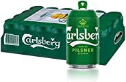 CARLSBERG Green Label Beer Can, 320ml (Pack of 24)