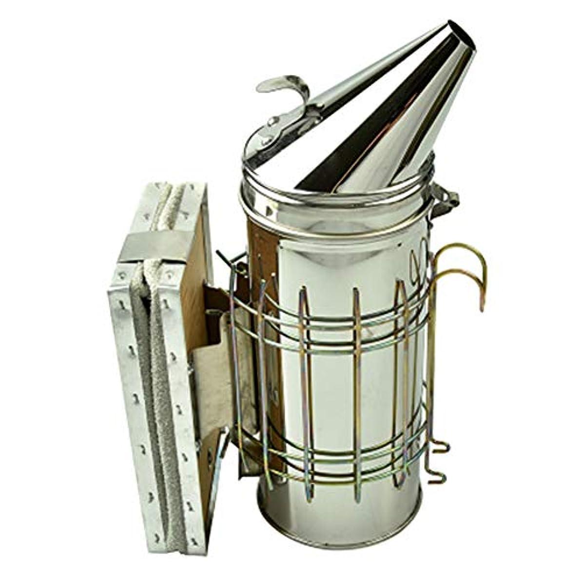 エンコミウムモットー累積高級 ステンレス製 燻煙器 噴霧器 FidgetFidget 養蜂場 養蜂器具 大型ステンレス鋼養蜂煙送信機噴霧器ツール