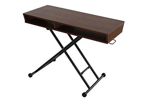 narumikk:テーブル ウォールナットリフティングテーブル&シェルフ