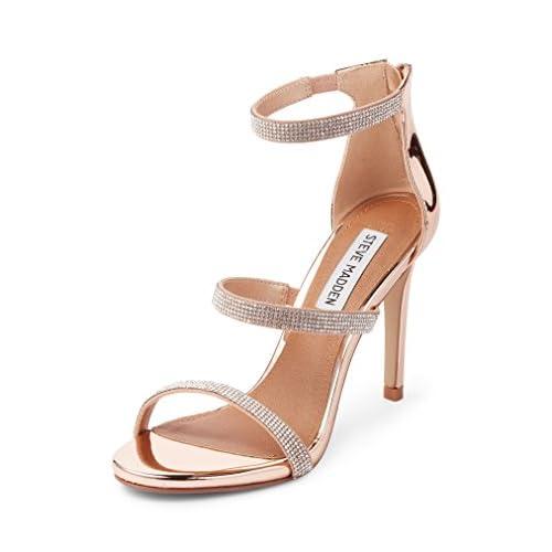 スティーブ マデン シューズ サンダル Steve Madden Smokin Sandal (Women) Rose Gold [並行輸入品]