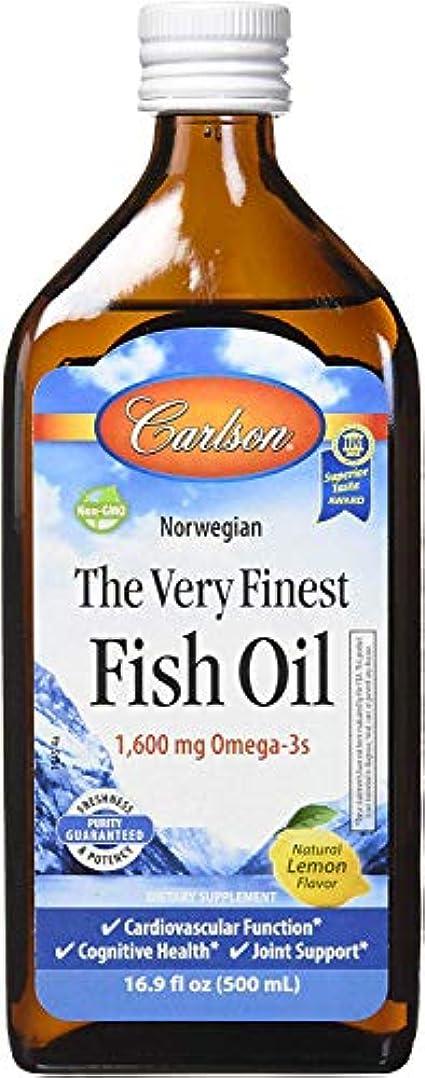 傷つける論理的にリットルCarlson Labs - 最も良いノルウェーの魚オイル液体Omega-3レモン味 1600 mg。16.9 fl oz.[並行輸入品] -4 Packs