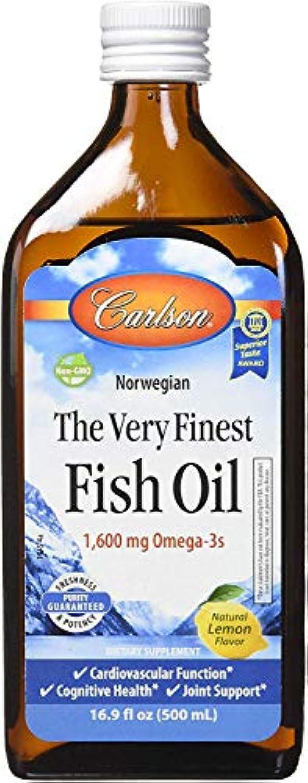 シンプルな幅ベルトCarlson Labs - 最も良いノルウェーの魚オイル液体Omega-3レモン味 1600 mg。16.9ポンド