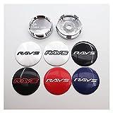 ホイールセンターキャップ 4ピース56mm 60mm光線のロゴの車のエンブレムホイールセンターハブキャップオートリムリプリ防塵バッジカバーステッカースタイリングアクセサリー センターカバーのロゴ (Color Name : RAYS 56 A silver)