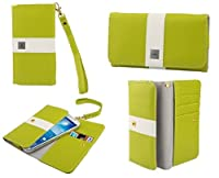DFV mobile - Cover Premium with Color Line Design with Card Case for => Qmobile Noir A36 > Pistachio