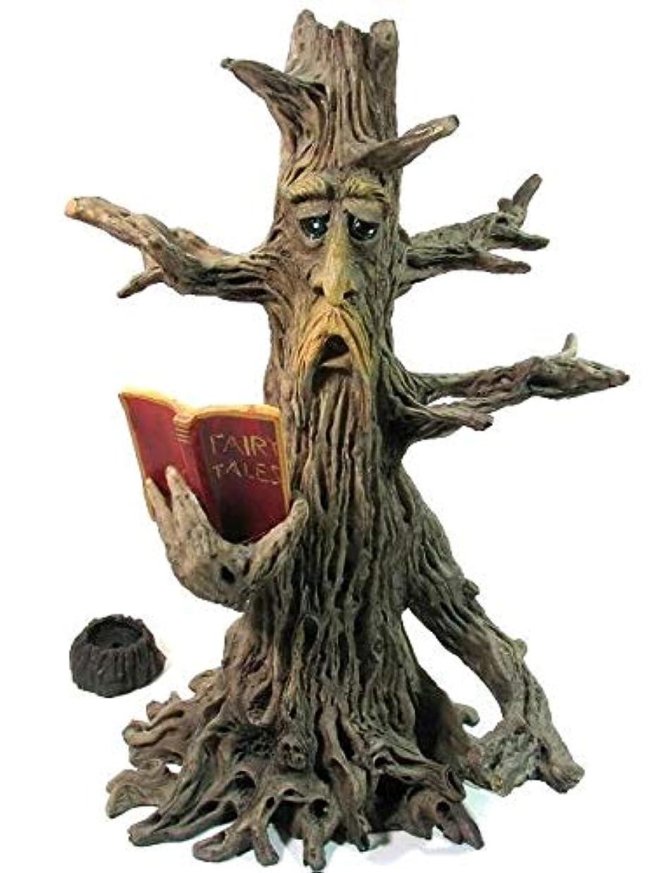 インド長さ純粋に[INCENSE GOODS(インセンスグッズ)] TREE MAN READING BOOK INCENSE BURNER 木の精香立