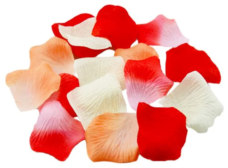 フラワーシャワー バラの 花びら 造花 4色セット(約1,080枚) に ポリ手提げ袋付き ( 結婚式 ウェディング パーティー クリスマス に )