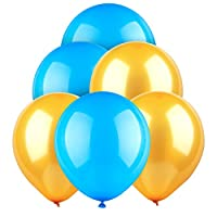 "Sepcoラテックスバルーン10"" Helium Balloons For Festival Holiday decorationsゴールド&ブルーのセット( 100個)"
