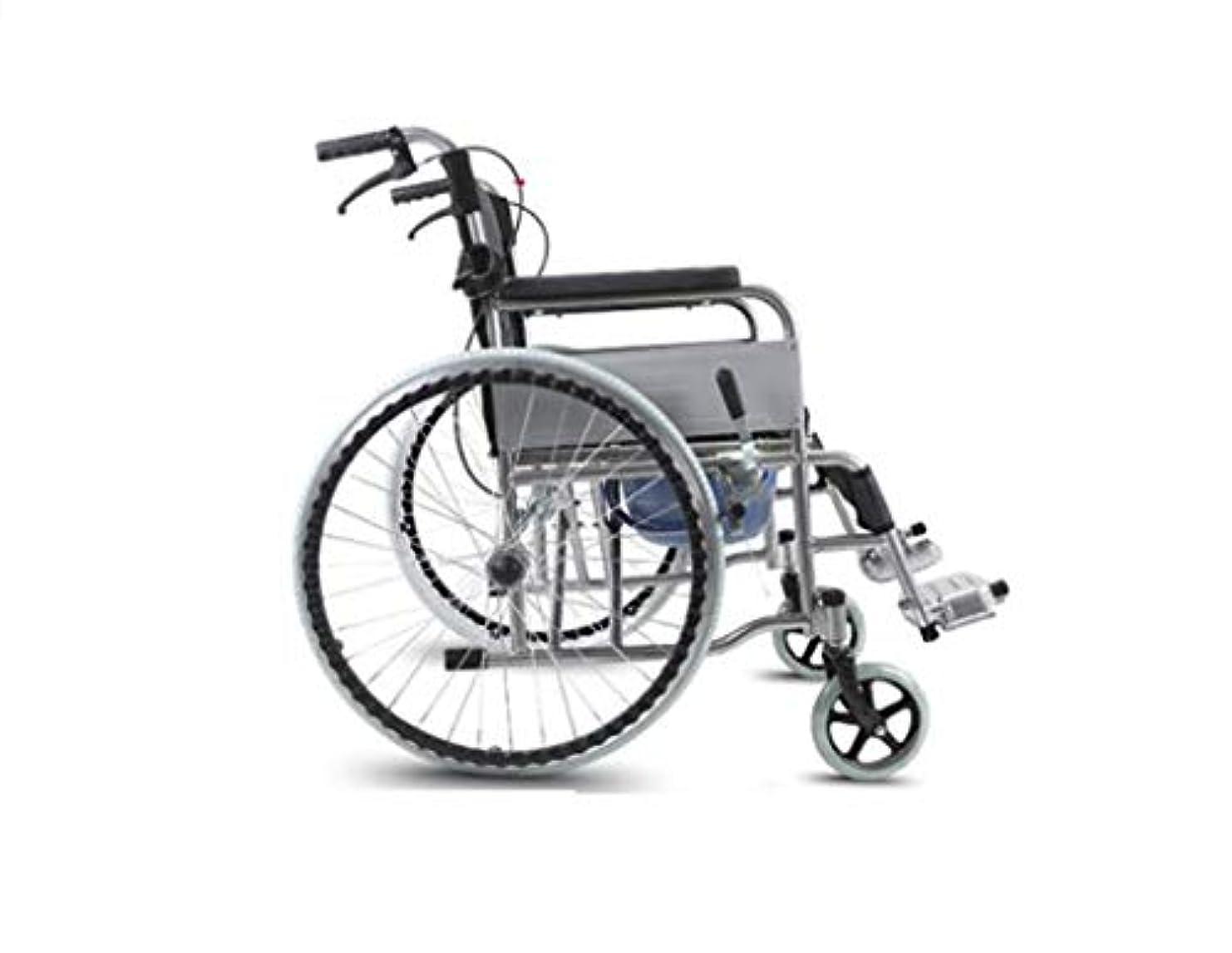 脈拍単独でスキニー車椅子折りたたみ、高齢者障害者、屋外旅行車椅子トロリー、クマ280 Kg