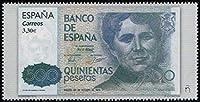 紙幣を描く大型の切手 スペイン2018年1種完