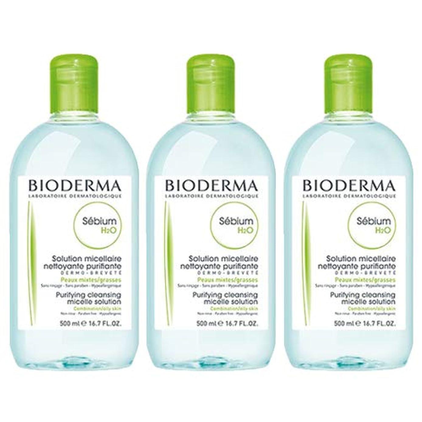 保守的リサイクルする優雅なビオデルマ BIODERMA セビウム H2O (エイチ ツーオー) D 500mL 【3本セット】 [並行輸入品]