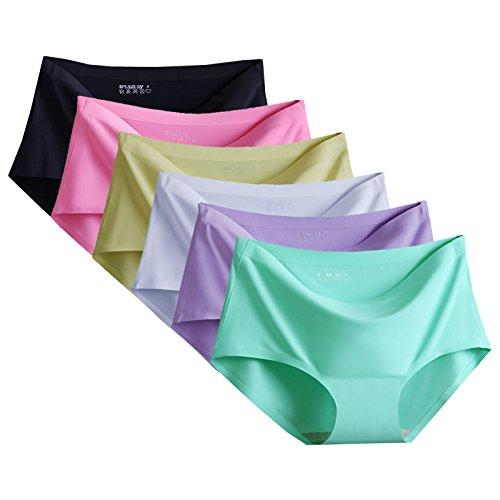 (トンボボ)Tonbobo レディース レギュラーショーツ シームレス 丈普通 無縫製 響きにくい 3色/6色/9色セット