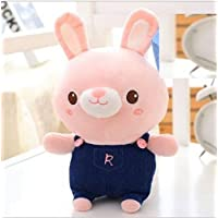 Pinjewelry ホームデコレーション ソフトトイ 丈夫なウサギぬいぐるみ 柔らかなおもちゃ うさぎのぬいぐるみ 動物ウサギのおもちゃ 子供用ギフト (ピンク)