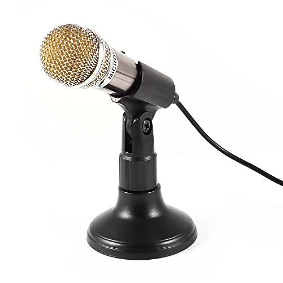 キャップ楽しむ政治家eDealMax 1.8Mケーブル 3.5mmオスコネクター ジャック KTV カラオケ ミニマイク ブラックホルダー付き