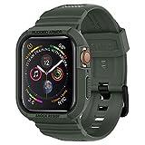 【Spigen】 Apple Watch バンド 一体型 ケース 【 Series 5 / Series 4 44mm 対応 】 落下 衝撃 吸収 ラギッド・アーマー プロ 062CS26016 (ミリタリー・グリーン)