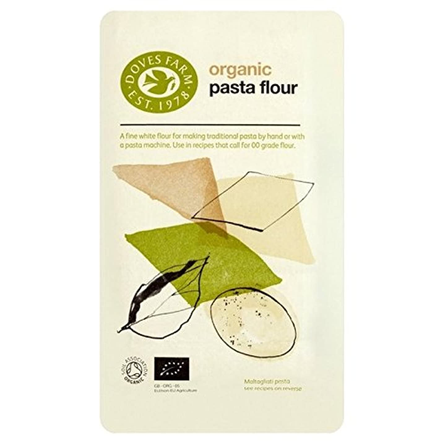 鋸歯状二チーム鳩ファームパスタ小麦粉1キロ (x 2) - Doves Farm Pasta Flour 1kg (Pack of 2) [並行輸入品]