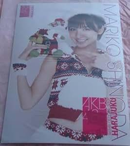 AKB48 公式生写真ポスターA4 サンタ衣装クリスマスver 【篠田麻里子】