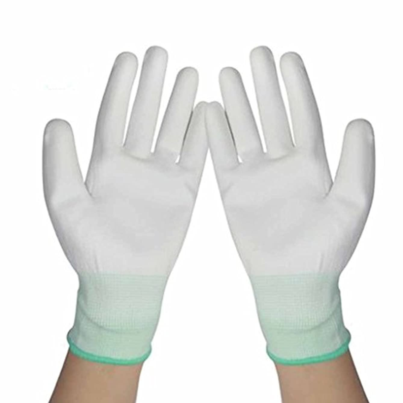恩赦痴漢間欠使い捨て手袋 労働保険の保護ナイロン浸漬手袋防塵の帯電防止通気性耐摩耗手袋 (Size : 40 pairs)