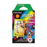 欠品富士フイルム チェキフィルム INSTAX MINI レインボー 10枚 絵柄入りフレーム×60点セット (4547410225754)