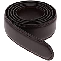Prettyia Men Leather Ratchet Belt Strap Only without Buckle, Durable Replacement Belt, Stitched Edges Design