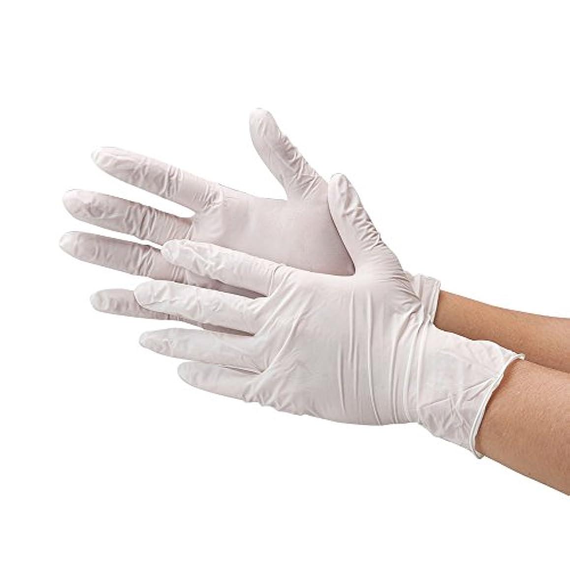 ヶ月目触覚ブリード使い捨て手袋 まるで素手の様な感覚で作業ができる 極薄 ゴム手袋 100枚入り 白 ホワイト 粉あり (サイズ:M) 左右兼用 食品衛生法適合品