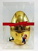 新しいスーパーマリオInspiredゴールド卵Surprise、with 1–Super Mario CollectableミニフィギュアBlindバッグ、スーパーマリオステッカー、スーパーマリオTattoos、and More in a shiny large 5.5ゴールドEgg