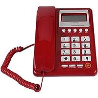 Fosa 固定電話 発信者番号通知付き フラッシュ&リダイヤル機能付き 固定電話DTMF/FSK固定電話 ホームホテル、学校、病院に対応