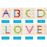 キッズ木製おもちゃマルチカラー幾何図形列セットデジタル/文字/動物ブロック幼児早期教育玩具誕生日クリスマスギフト