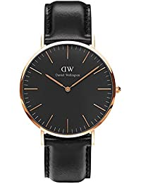 CLASSIC BLACK新品Daniel Wellington ダニエル ウェリントン SHEFFIELD メンズ腕時計 クラッシー 本革  腕時計 ピンクゴールド 40mm [並行輸入品]