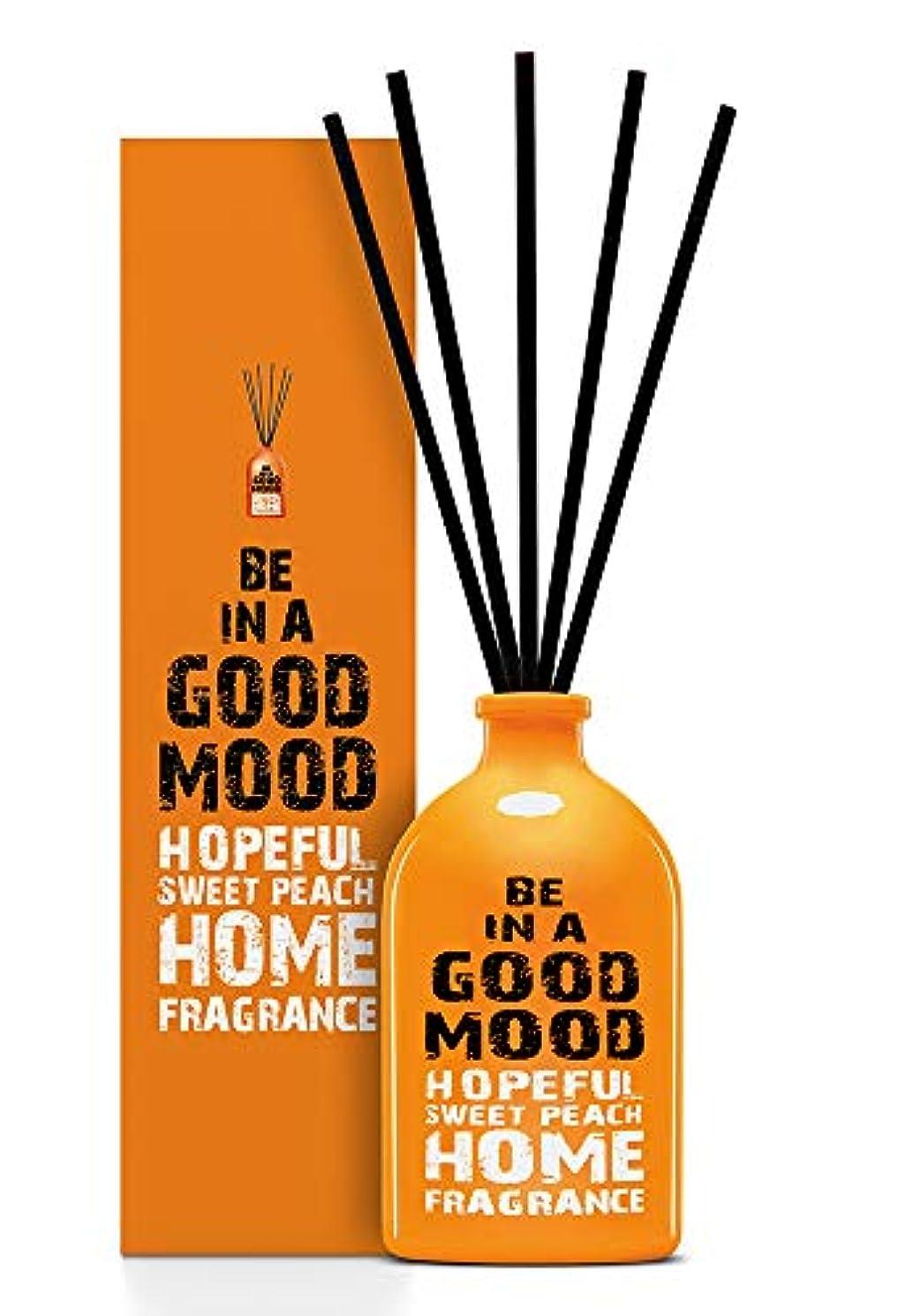 手書き仲間飢饉BE IN A GOOD MOOD ルームフレグランス スティック タイプ SWEET PEACHの香り (100ml)