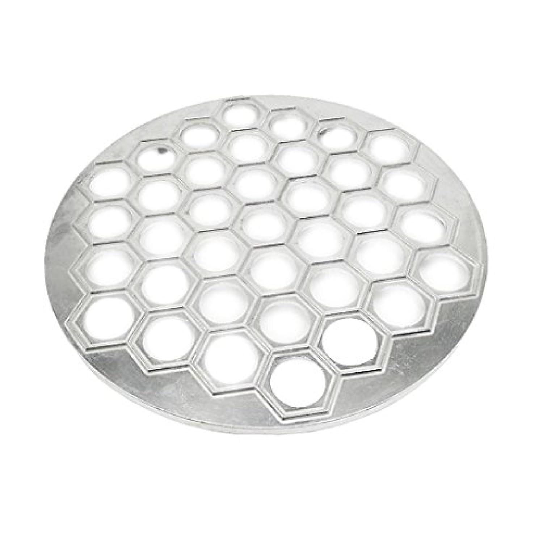 Baosity 全2色選べる 37穴  アルミニウム  餃子ツール 金型 ラビオリメーカー - 銀