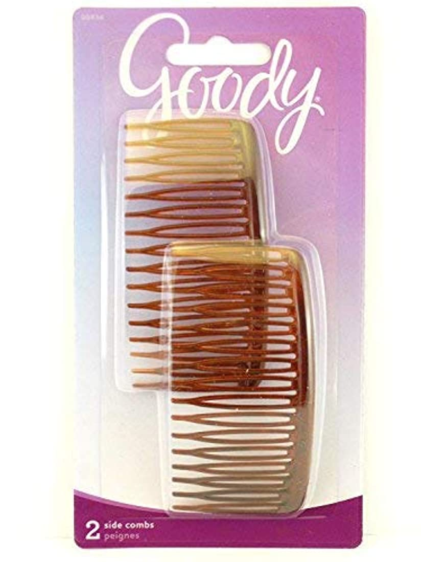繰り返したハンカチ符号Goody WoMens Classics Mock Tort Comb, Side, 0.51 Inch, 2 Count [並行輸入品]