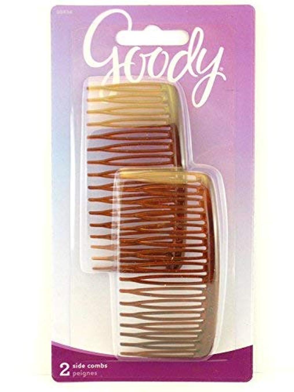 生産性ブリーク酔ってGoody WoMens Classics Mock Tort Comb, Side, 0.51 Inch, 2 Count [並行輸入品]