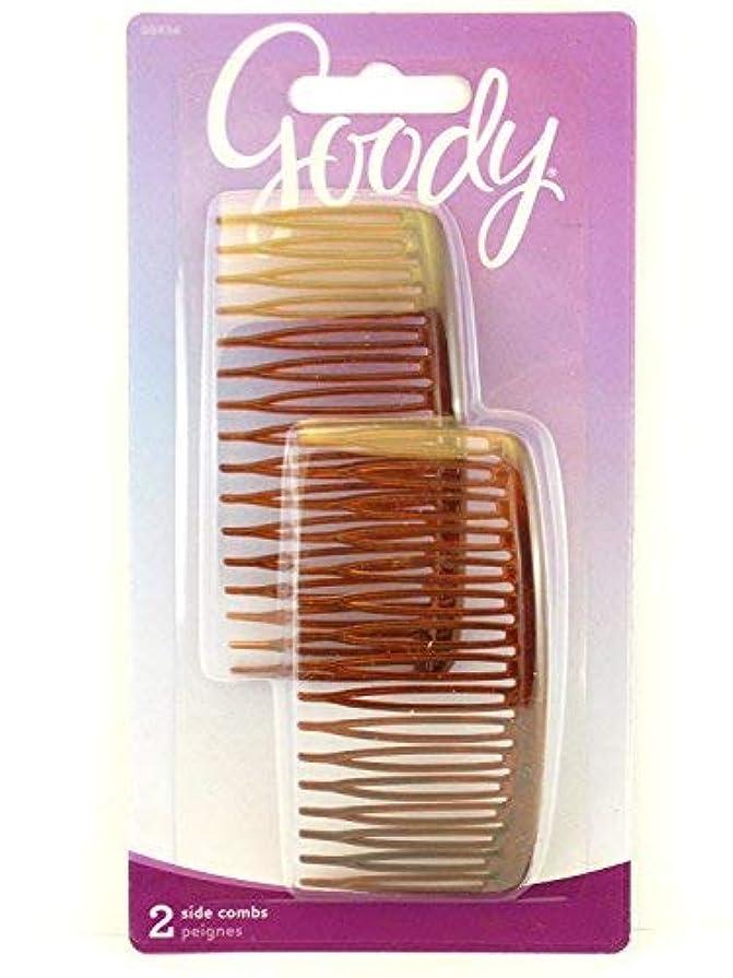海エンゲージメント本物のGoody WoMens Classics Mock Tort Comb, Side, 0.51 Inch, 2 Count [並行輸入品]