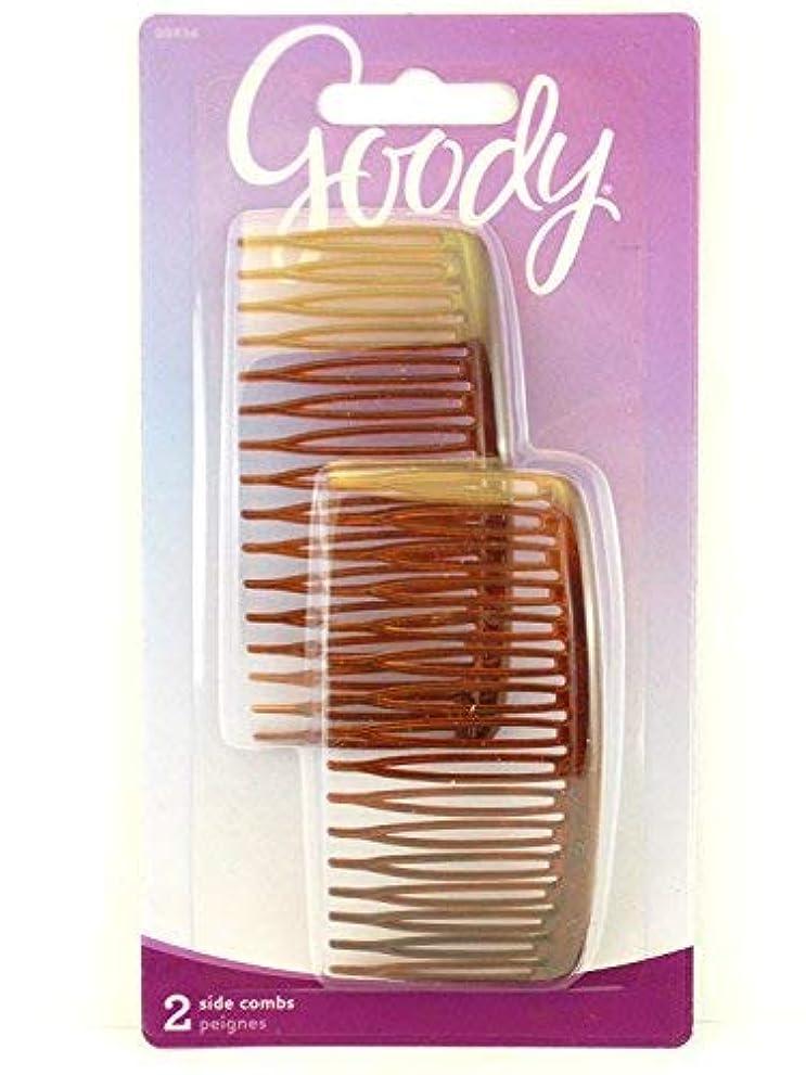 銃スクラップブック征服者Goody WoMens Classics Mock Tort Comb, Side, 0.51 Inch, 2 Count [並行輸入品]