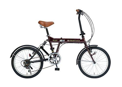 My Pallas(マイパラス) 折りたたみ自転車 SC-07-EB 20インチ 6段変速 エボニーブラウン
