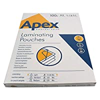 5 Star Office Laminating Pouches 150 Micron (75 per face) for A4 Glossy (Pack of 100)