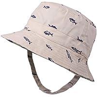 Flammi Baby Boy's Sun Hat Cotton Reversible UV Protection Bucket Hat Summer Play