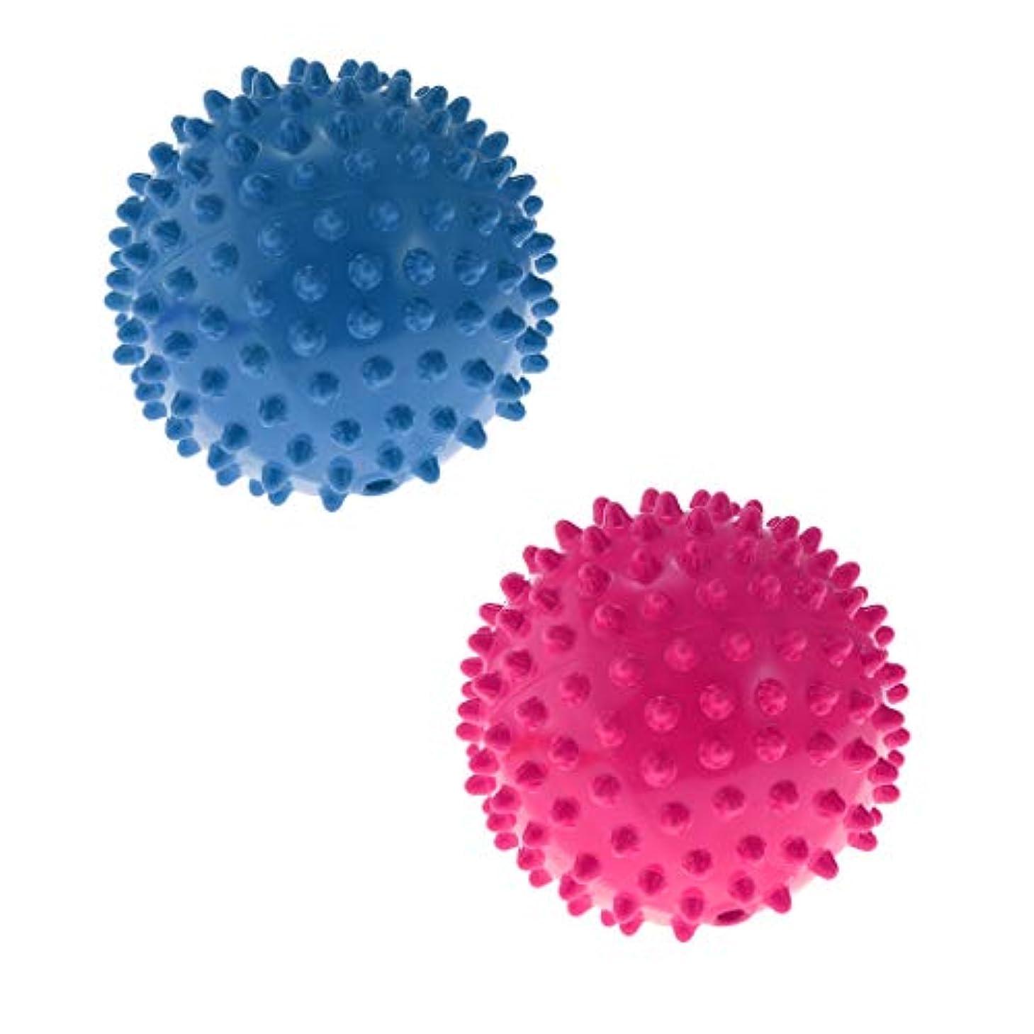 最小化する曲がった銀指圧ボール 触覚ボール マッサージローラー ローラーボール 軽量 持ち運び便利 補助ツール 2ピース