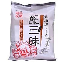 北海道ラーメン かに三昧 毛ガニ風味みそ味(1ケース10入)