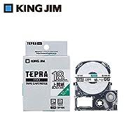 キングジム 「テプラ」PROテープカートリッジ 上質紙ラベル 白/黒文字 18mm SP18K 【人気 おすすめ 通販パーク】