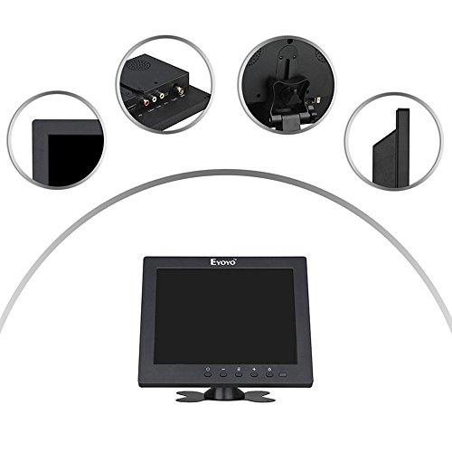 『Eyoyo 8インチ ディスプレイ 小型LCDカラービデオモニター スクリーン 1024x768 VGA BNC AV HDMI Ypbpr 機能付き PC CCTVホーム 入力』の8枚目の画像
