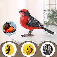 Mopoq シミュレーション電気鳥の玩具は、アクションを呼び出す音声コントロール子供の赤ちゃんのおもちゃを呼び出します3-6歳の頭の回転口Zhanghe (Color : 4)
